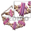2 Rows Lavender Coco Shell Bracelet